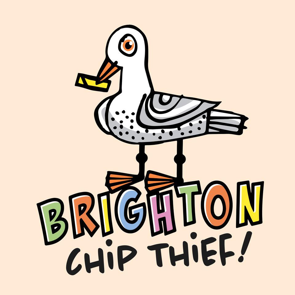 Brighton Chip Thief Lithograph