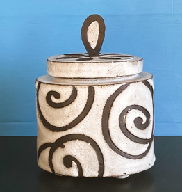 stoneware sweetie jar