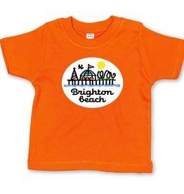 Brighton Beach pier baby t-shirt