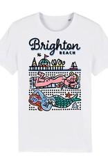 Sunbathers, Brighton Beach adult's t-shirt