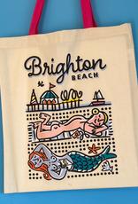 Sunbather Brighton Beach tote bag