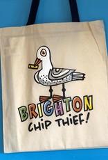 Brighton Chip thief Seagull tote bag