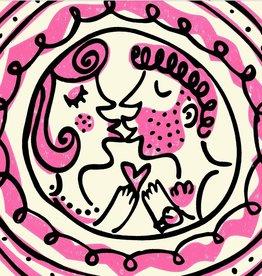 """Pink Kiss cushion 18 x 18"""""""