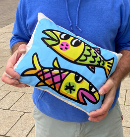Fish Duo cushion 12 x 16""