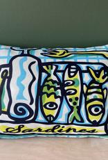 """Sardines cushion 12 x 16"""""""