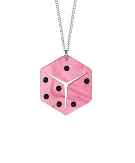 Lucky Dice Necklace - Pink
