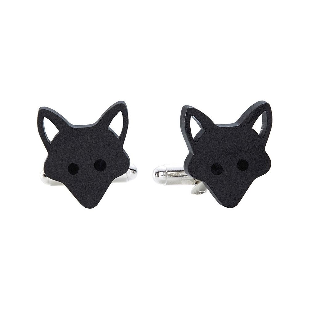 Fox Cufflinks - Pearl Smoke<br />