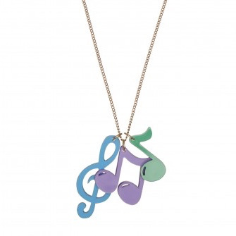 Musical Notes Charm Necklace