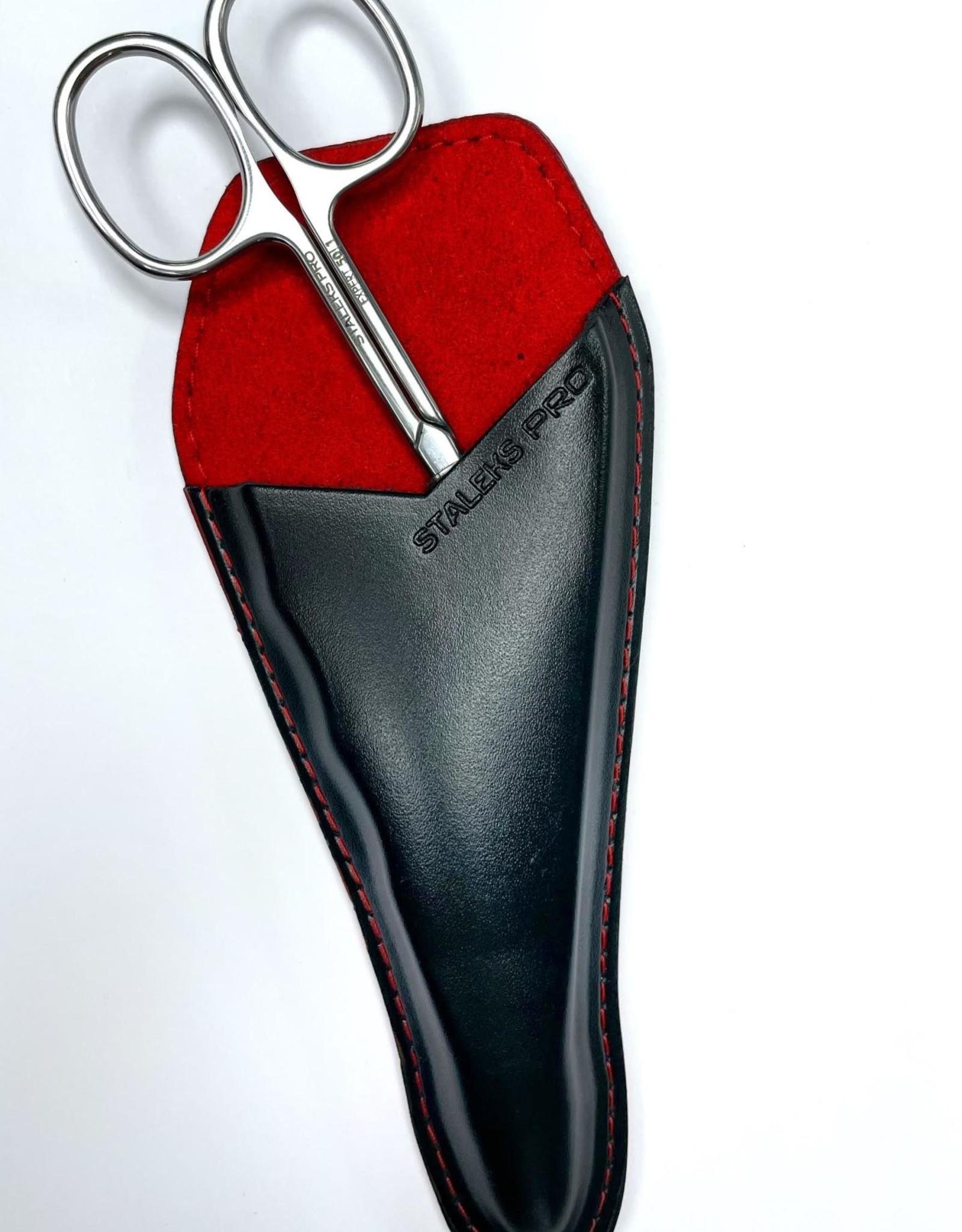 manicure luxe leren etui (rood/zwart)