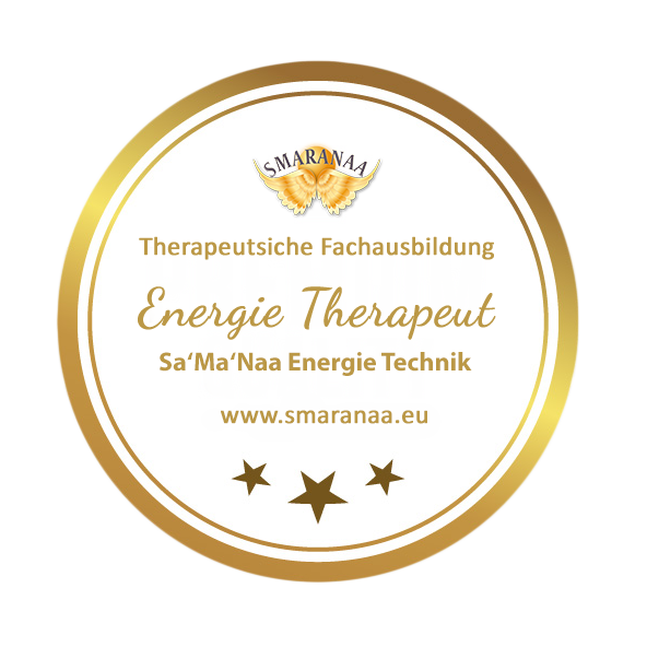 Smaranaa Zertifikat für Energie Therapeut Sa'Ma'Naa Heiltechnik