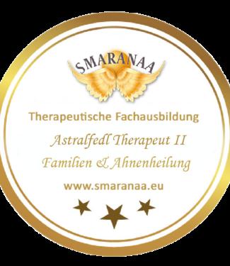 Smaranaa Zertifikat für Astralfeld Therapeut II