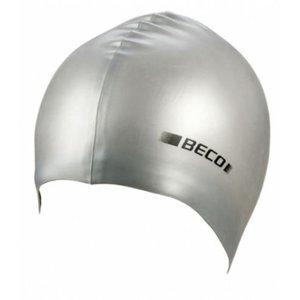 Badmuts metallic zilver
