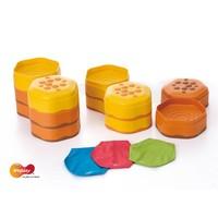 WEPLAY Honingraat sensory stapelblokken set