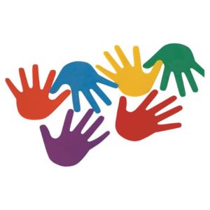 Vloermarkering hand, set van 6