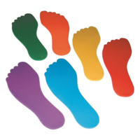 Vloermarkering voet, set van 6