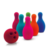 Rubbabu Bowling-set  Klein Gekleurd