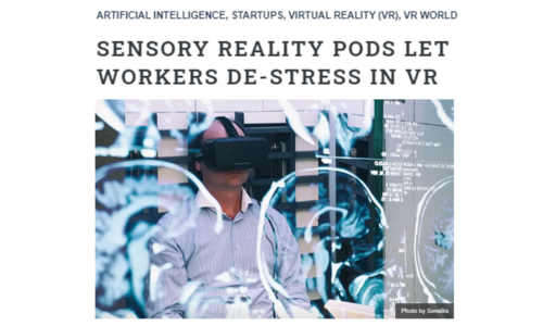 Sensory reality pods let workers de-stress in VR londen