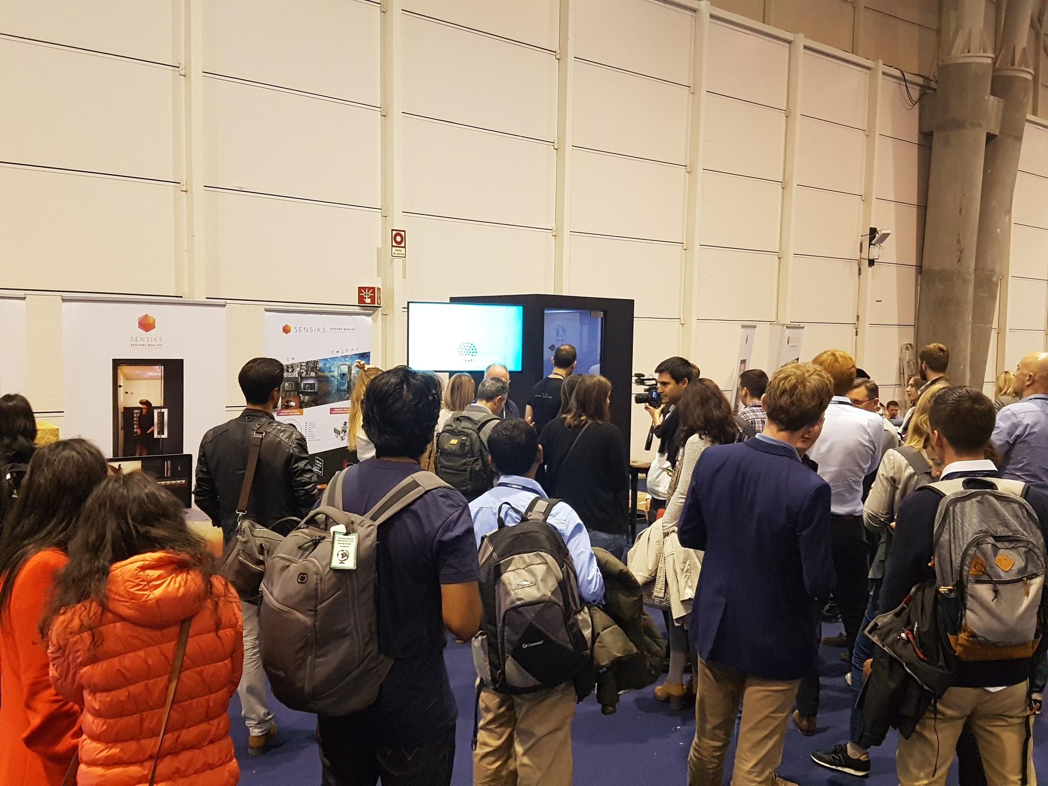websummit virtual reality augmented reality sensiks event