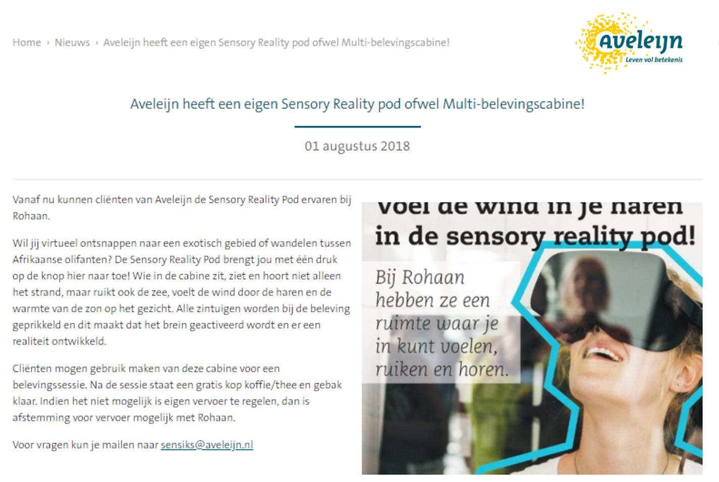 Aveleijn heeft een eigen Sensory Reality pod ofwel Multi-belevingscabine!.png