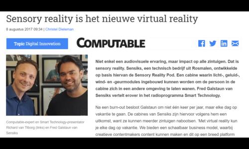 Sensory reality enriches virtual reality - Computable.nl