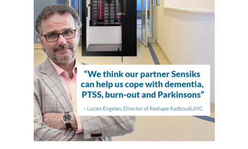 We think our partner Sensiks can help us cope with dementia, PTSS, burn-out and Parkinsons