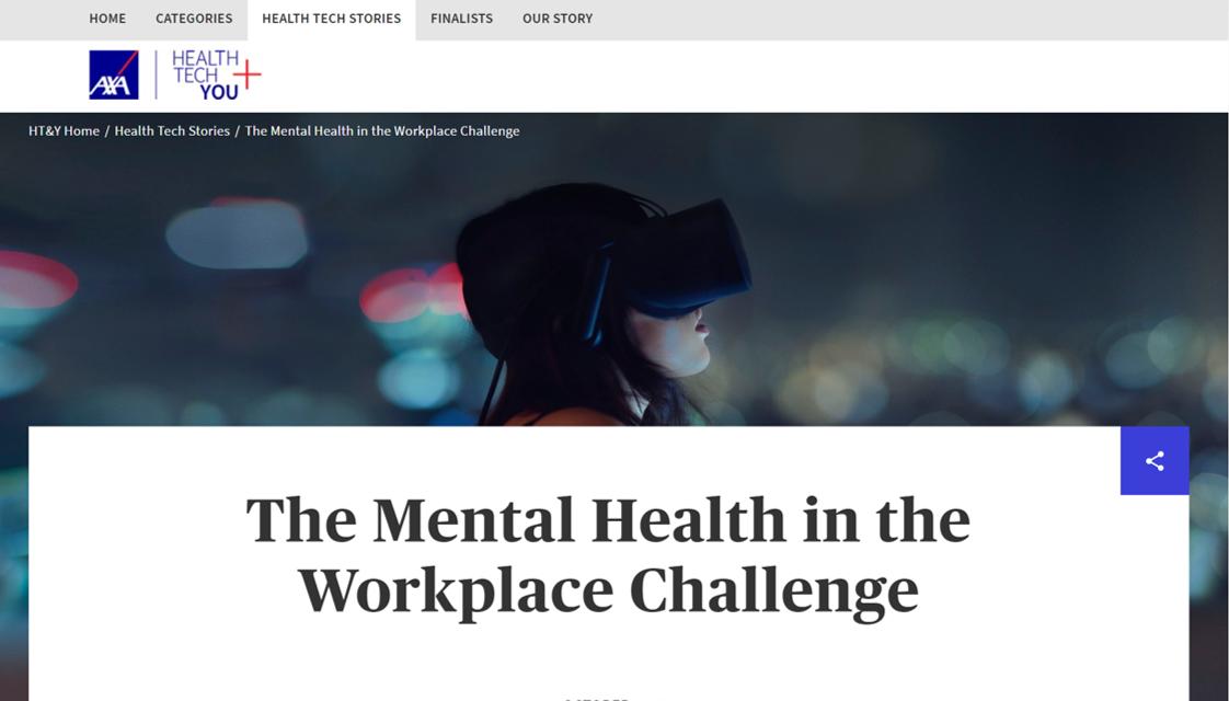 SENSIKS Finalist AXA's Mental Health in the Workplace Challenge