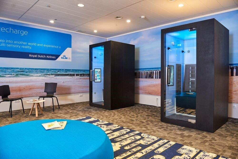KLM Crown Lounge now features SENSIKS Sensory Reality Pods