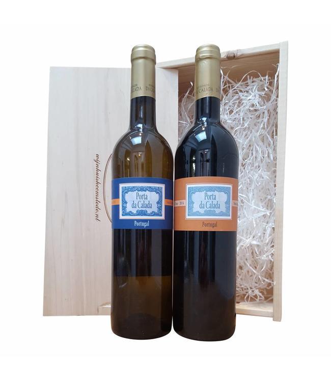 Wijn relatiegeschenk Portugees wit/rood
