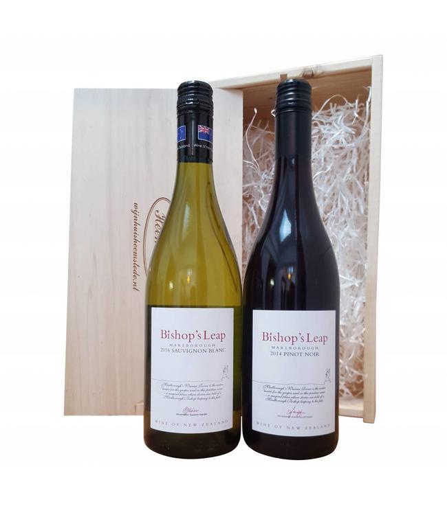 Wijn relatiegeschenk Nieuw-Zeeland wit/rood