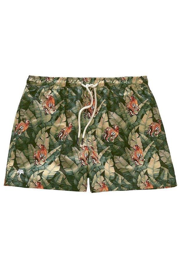 Army Zwembroek.Men Swim Shorts Tiger Army Vakantiemode
