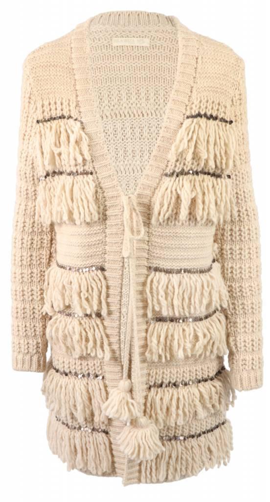 Isla Ibiza kimono jacket with fringes