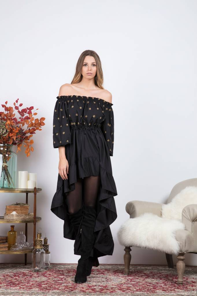 8d19d611328 Sundress Maxi Dress Off Shoulder Alena Sundress - Black