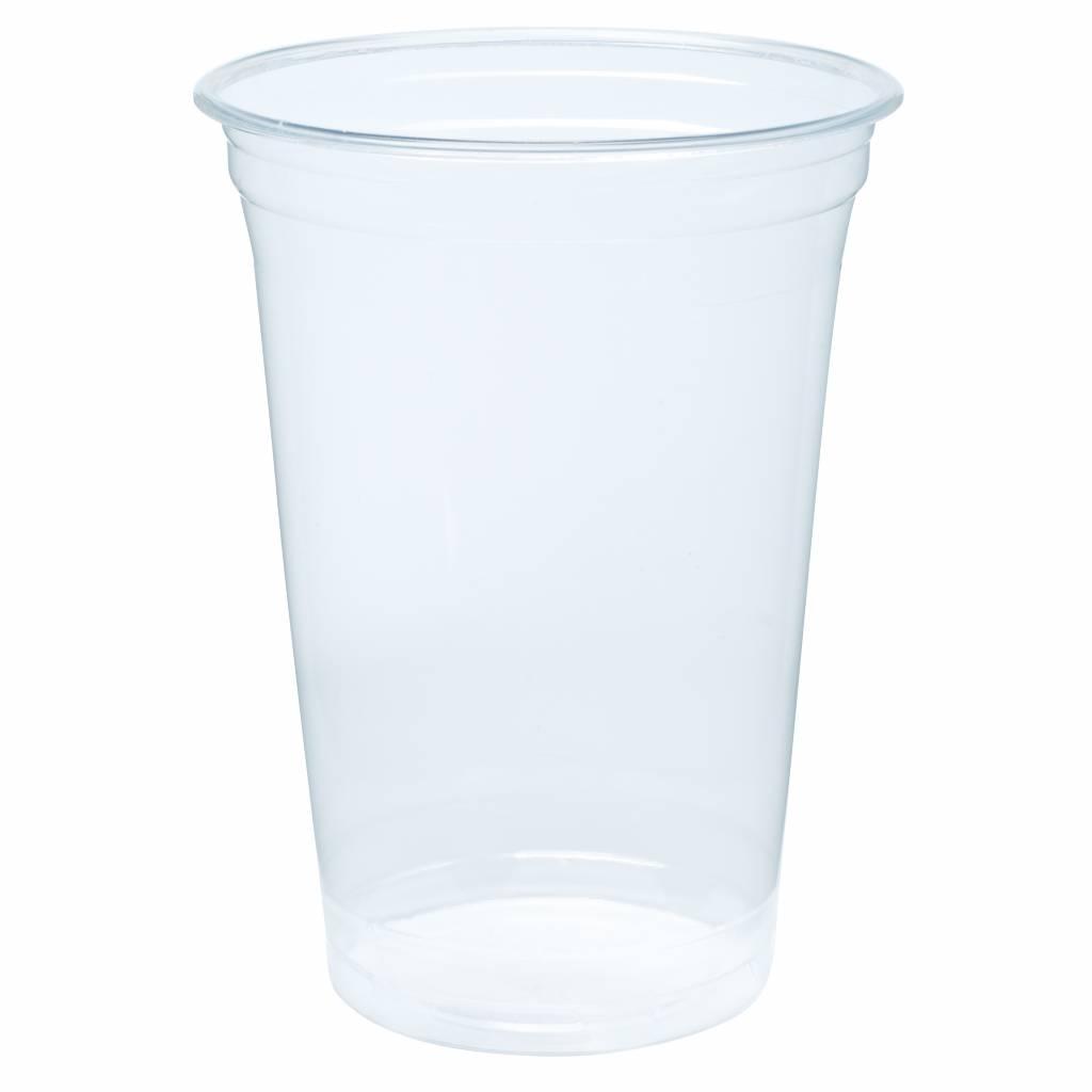 Biodegradable - Bioplastic cups 500ml Blanko