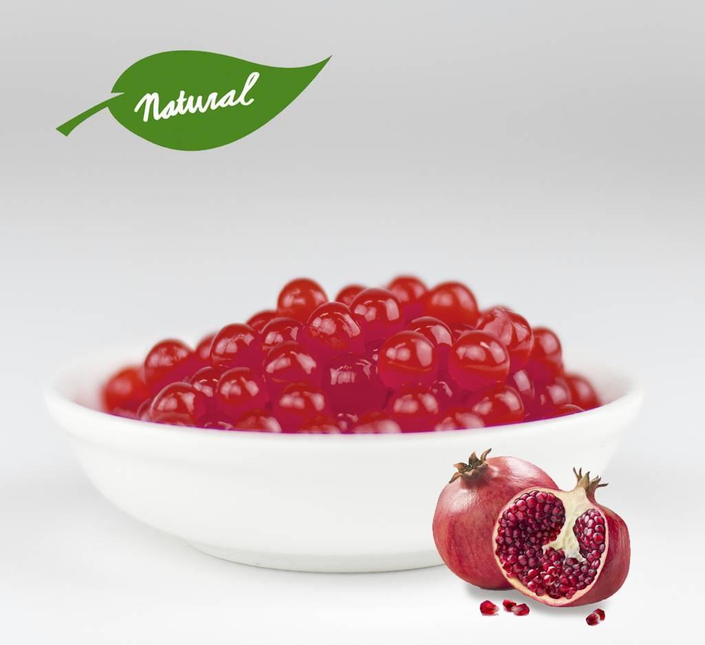 Fruchtperlen für Bubbletea - Granatapfel - ( 3,2 kg ) -