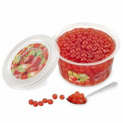 450gr Becher Fruchtperlen Erdbeere