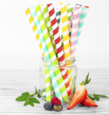 Pajitas de papel de colores para bubble tea