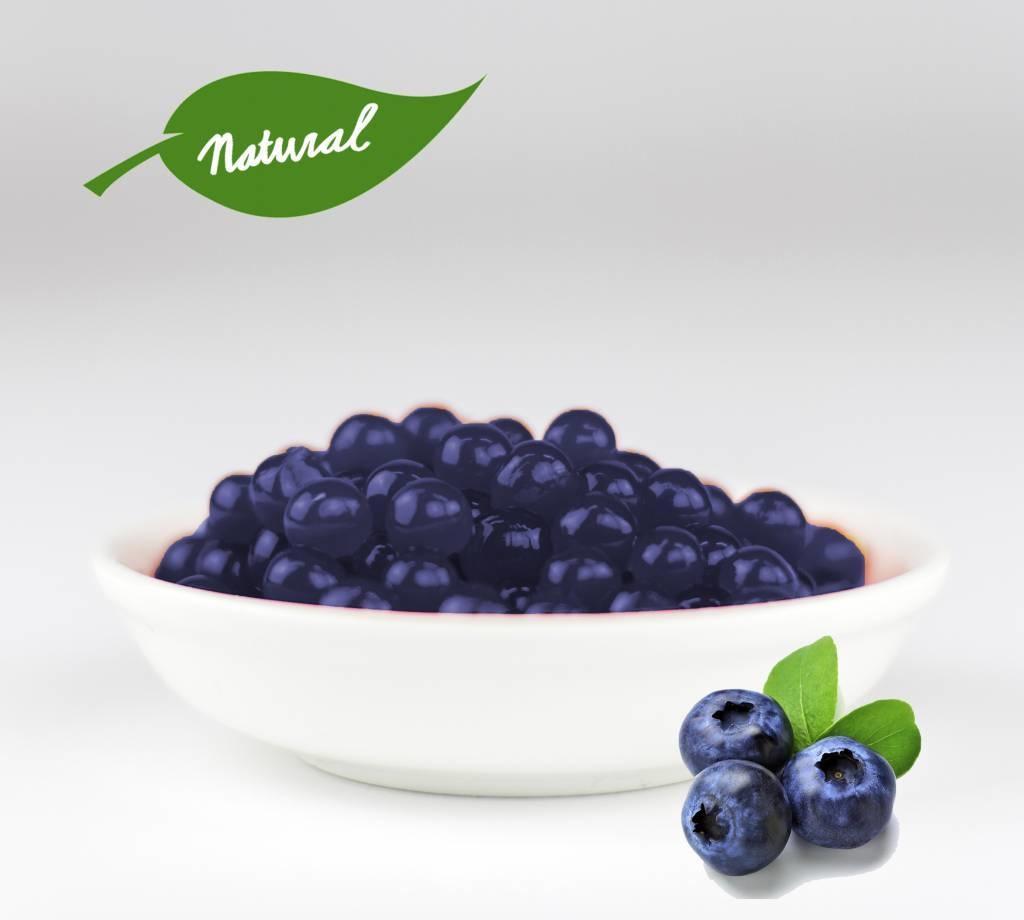 1kg Becher Fruchtperlen Heidelbeeren