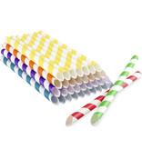 Cannucce di carta colorate per tè alle bubble tea
