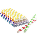 Farbige papierstrohalme für Bubble Tea