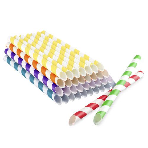 Pailles en papier pour bubble tea En couleurs
