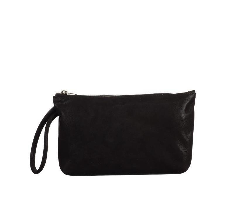 Black Shimmer Suede bag