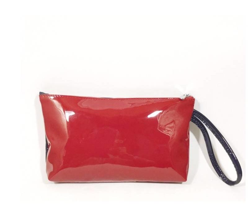 Navy/Red Patent Bag