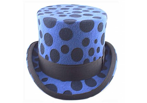 Karma Top Hat Blue Dotty