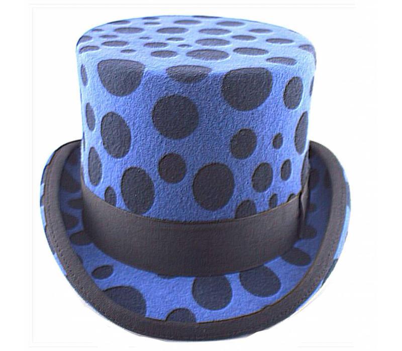 Top Hat Blue Dotty
