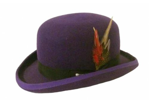 Karma Bowler Hat Purple