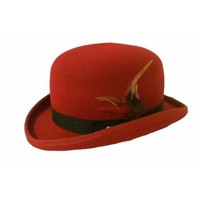 Bowler Hat Red