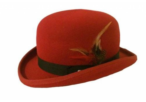 Karma Bowler Hat Red