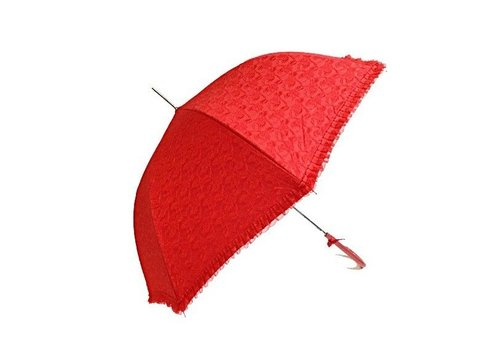 Umbrellas SI0147A RED LACE UMBRELLA