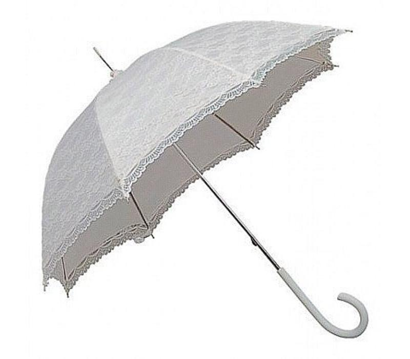 SI0147A-WHITE LACE UMBRELLA