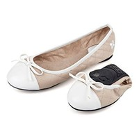 Olivia Nude/White Patent